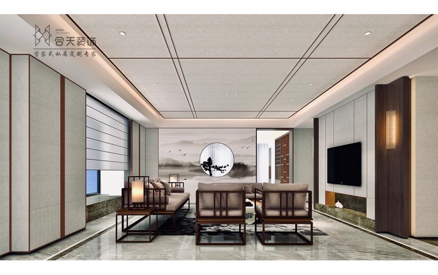 铂锐西郊新中式别墅万博manmax手机登录效果图